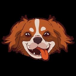 Lindo perro sonriendo ilustración