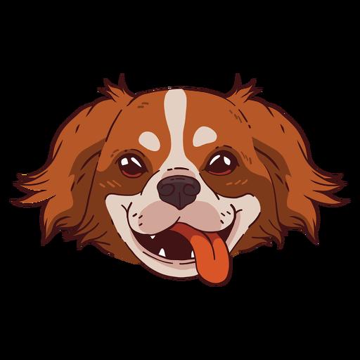 Cute dog smiling illustration Transparent PNG