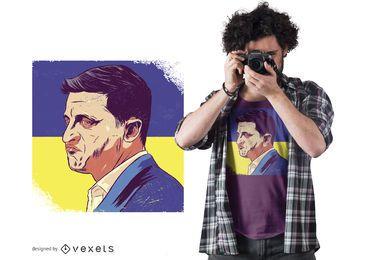 Projeto do t-shirt do presidente de Ucrânia