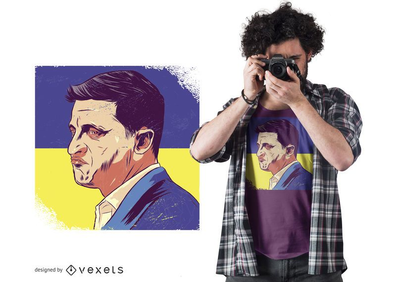 Ukraine President T-shirt Design