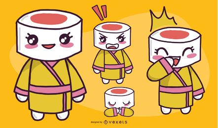Personaje de sushi femenino