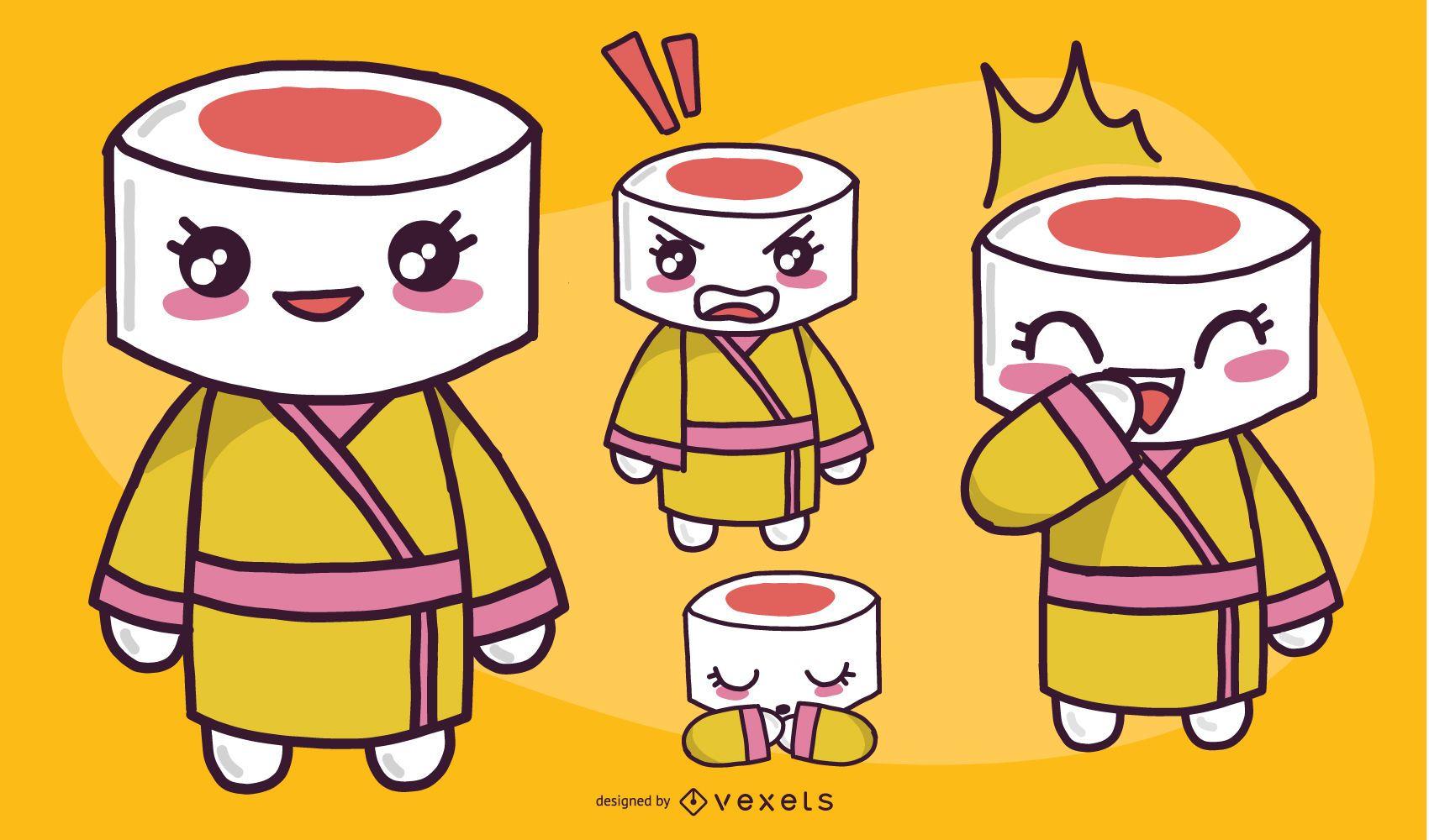 Female Sushi Character