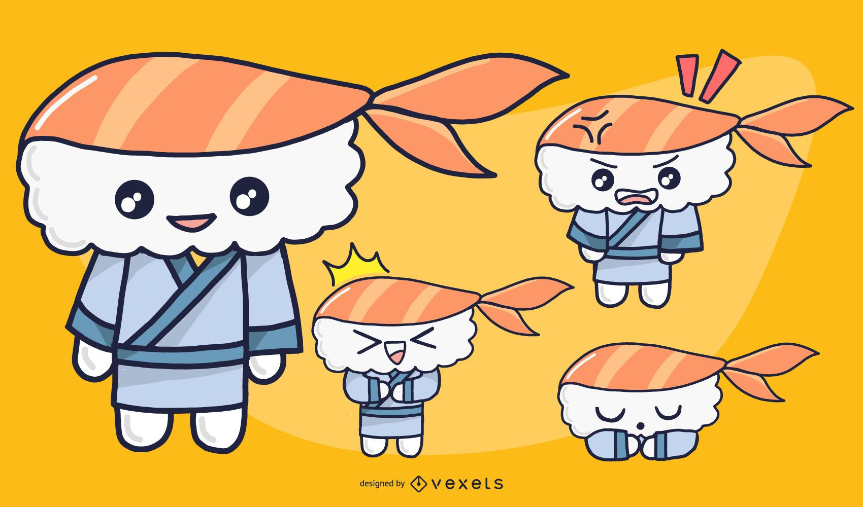 Male Sushi Character Set