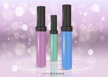 Lipgloss-Flaschen