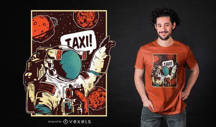 Diseño de camiseta de paseo espacial.