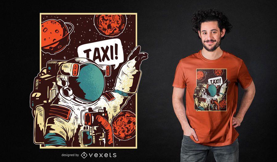 Design de t-shirt de passeio espacial