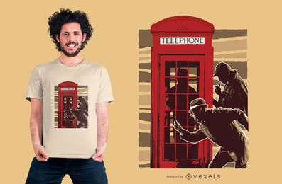 Detectives telephone t-shirt design