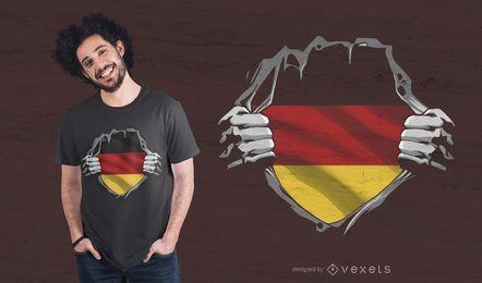 Diseño de camiseta de bandera alemana