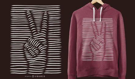 3D Friedenszeichen T-Shirt Design
