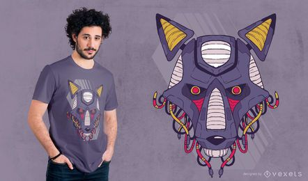 Robotic Wolf t-shirt design