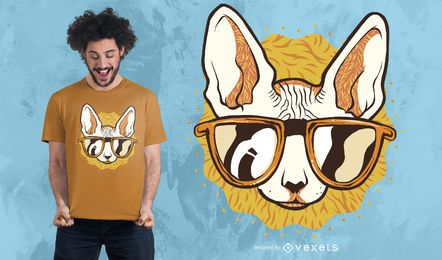 Design legal do t-shirt do gato