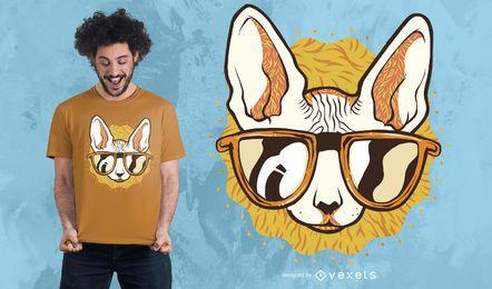 Diseño fresco de la camiseta del gato