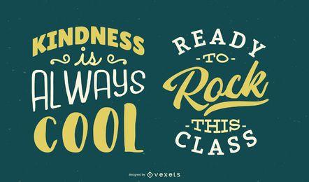 Escuela de diseño vectorial letras