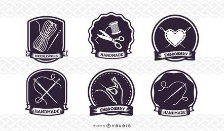 Conjunto de insignias de costura