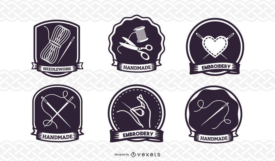 Conjunto de distintivo de costura