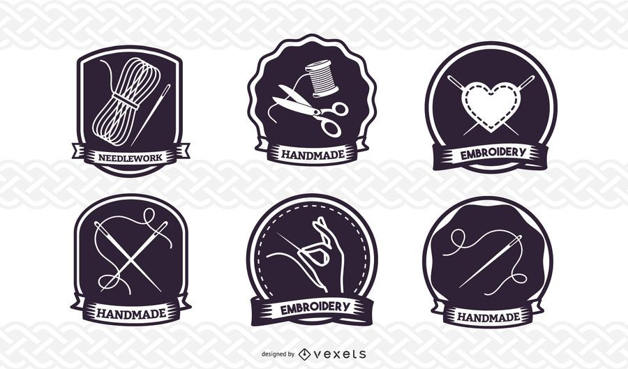 Nähen-Abzeichen-Set