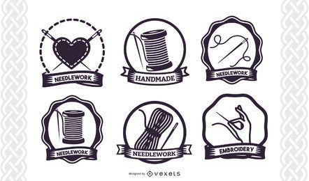Colección de logotipos de servicios hechos a mano