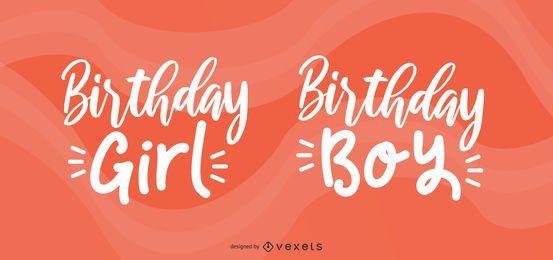 Set de saludo de cumpleaños de celebrante
