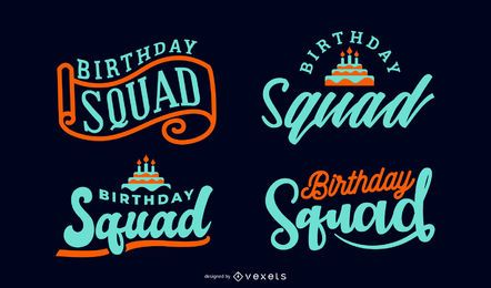 Birthday Squad Lettering Set