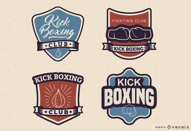 Conjunto de emblema de kickboxing