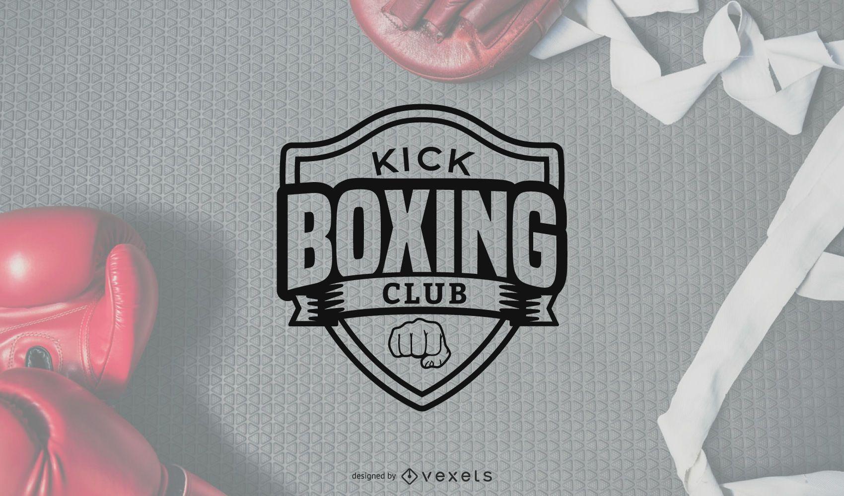 Kick Boxing Logo Vector