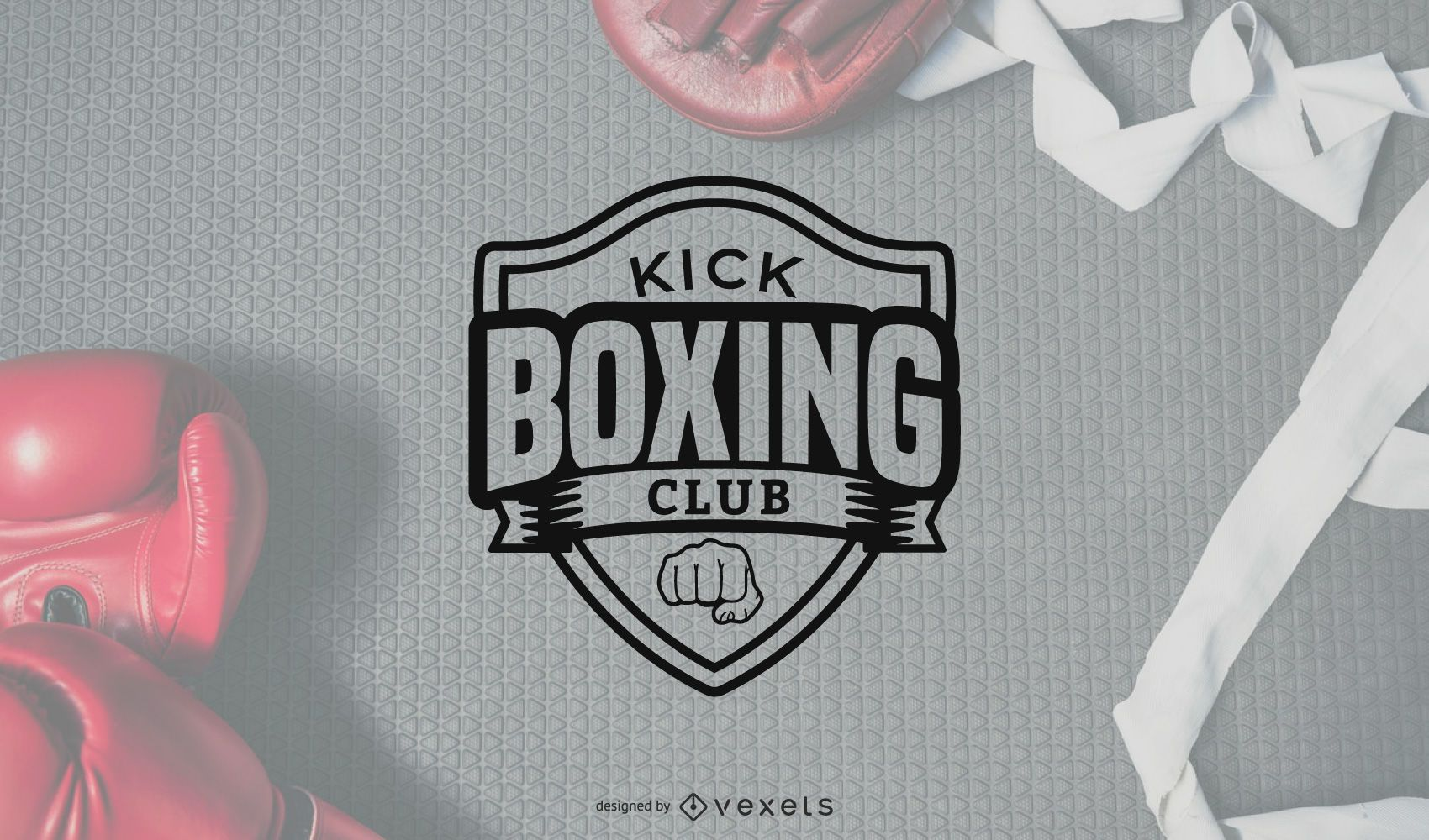 Vector de logotipo de kick boxing