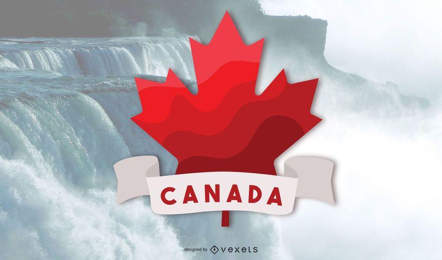 Vector de hoja de arce rojo de Canada