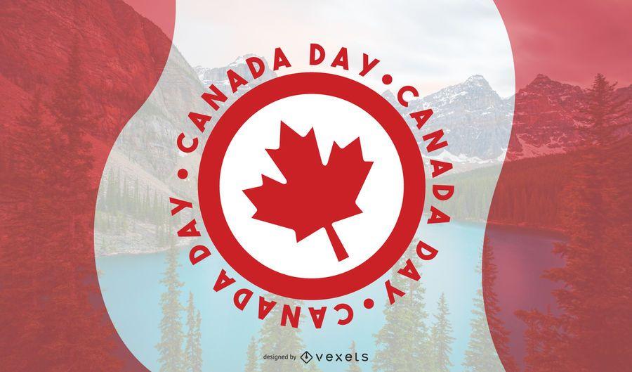 Design de vetor do dia do Canadá