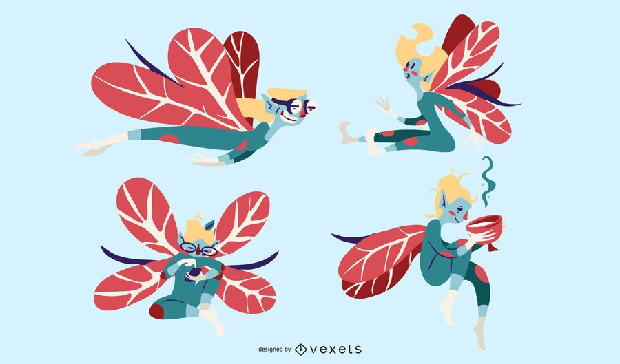 Fairy Illustration Vector Set