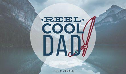 Título del papá de la pesca de diseño vectorial