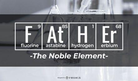 Padre el diseño del elemento noble