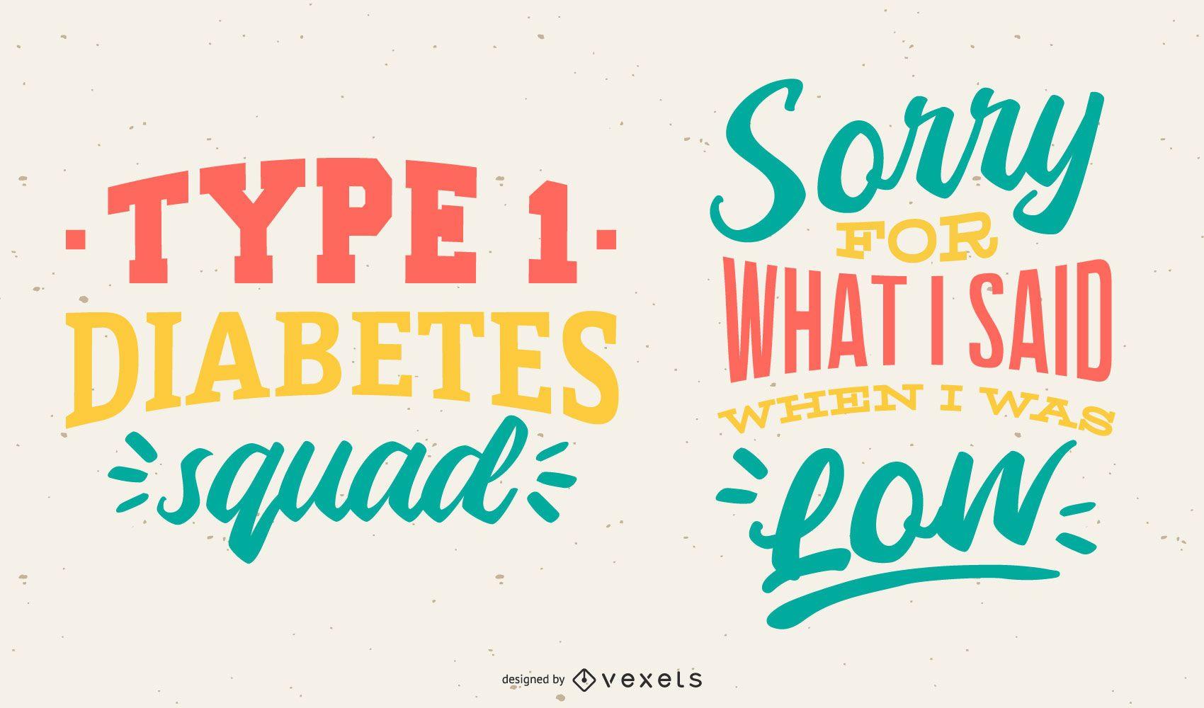 Diabetes Lettering Vector Design