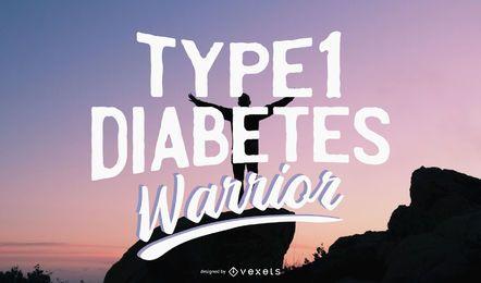 Ilustração de guerreiro de diabetes tipo 1