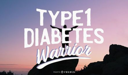 Type 1 Diabetes Warrior Illustration