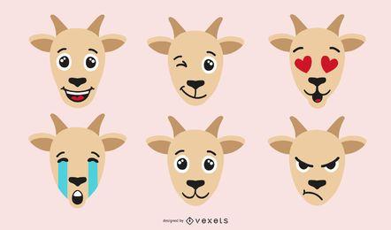 Set de Emoji de Cabra de Color
