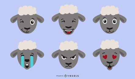 Ovejas Emojis ilustración
