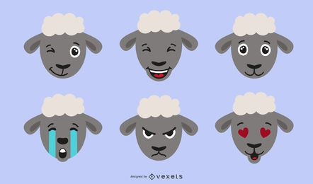 Schafe Emojis Illustration