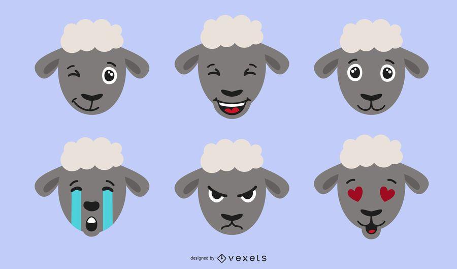Sheep Emojis Illustration