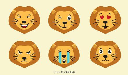 Leão Emoji Set