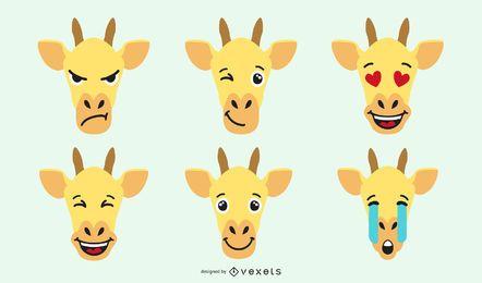 Conjunto de emoji de jirafa
