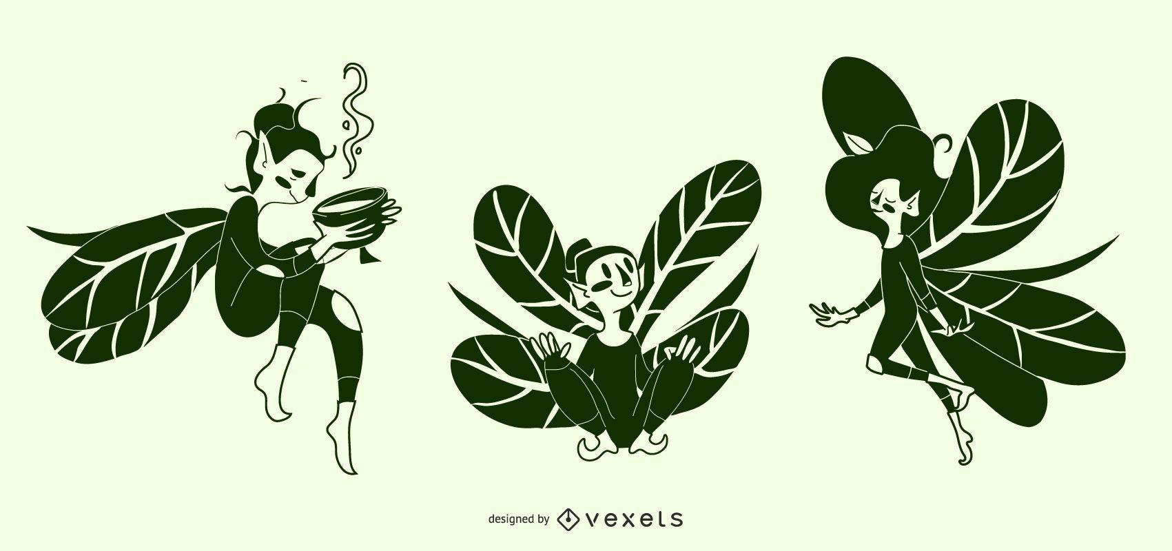 Fairy Silhouette Illustrations