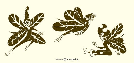 Fairy Illustrations Vector Set