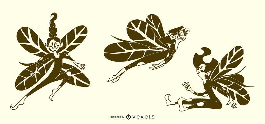 Fairy Illustrations Vector Set