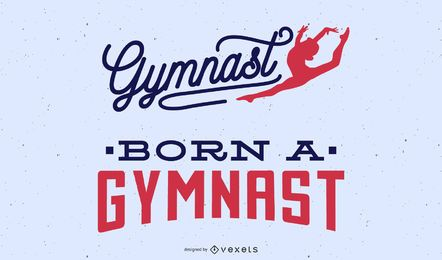 Conjunto de letras de gimnasta