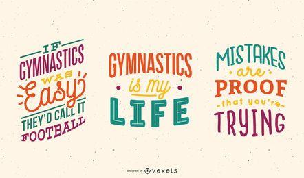 Conjunto de letras de gimnasia.