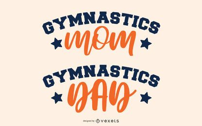 Gymnastics parents lettering set
