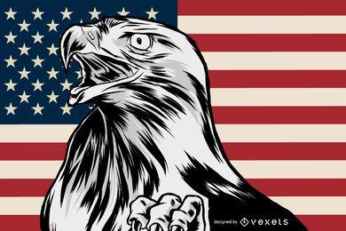 Patriotische Adlerillustration