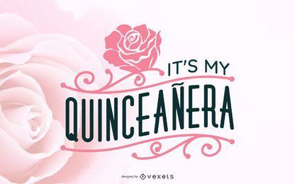Ilustração Floral Quinceañera