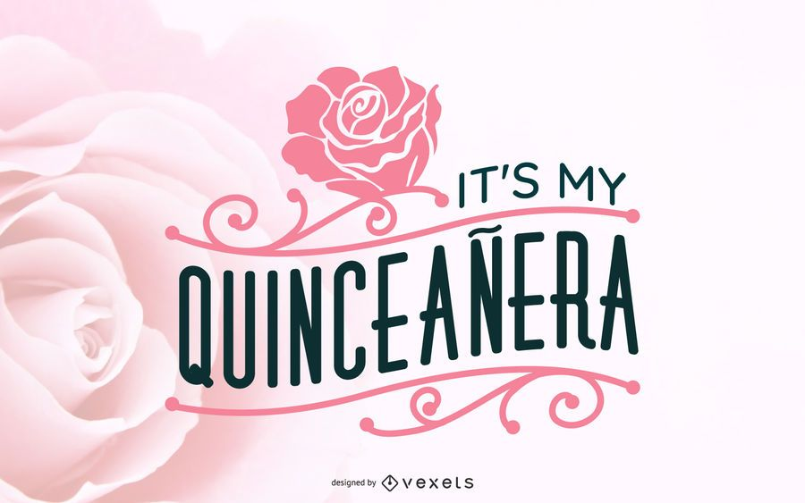 Floral Quinceañera Illustration