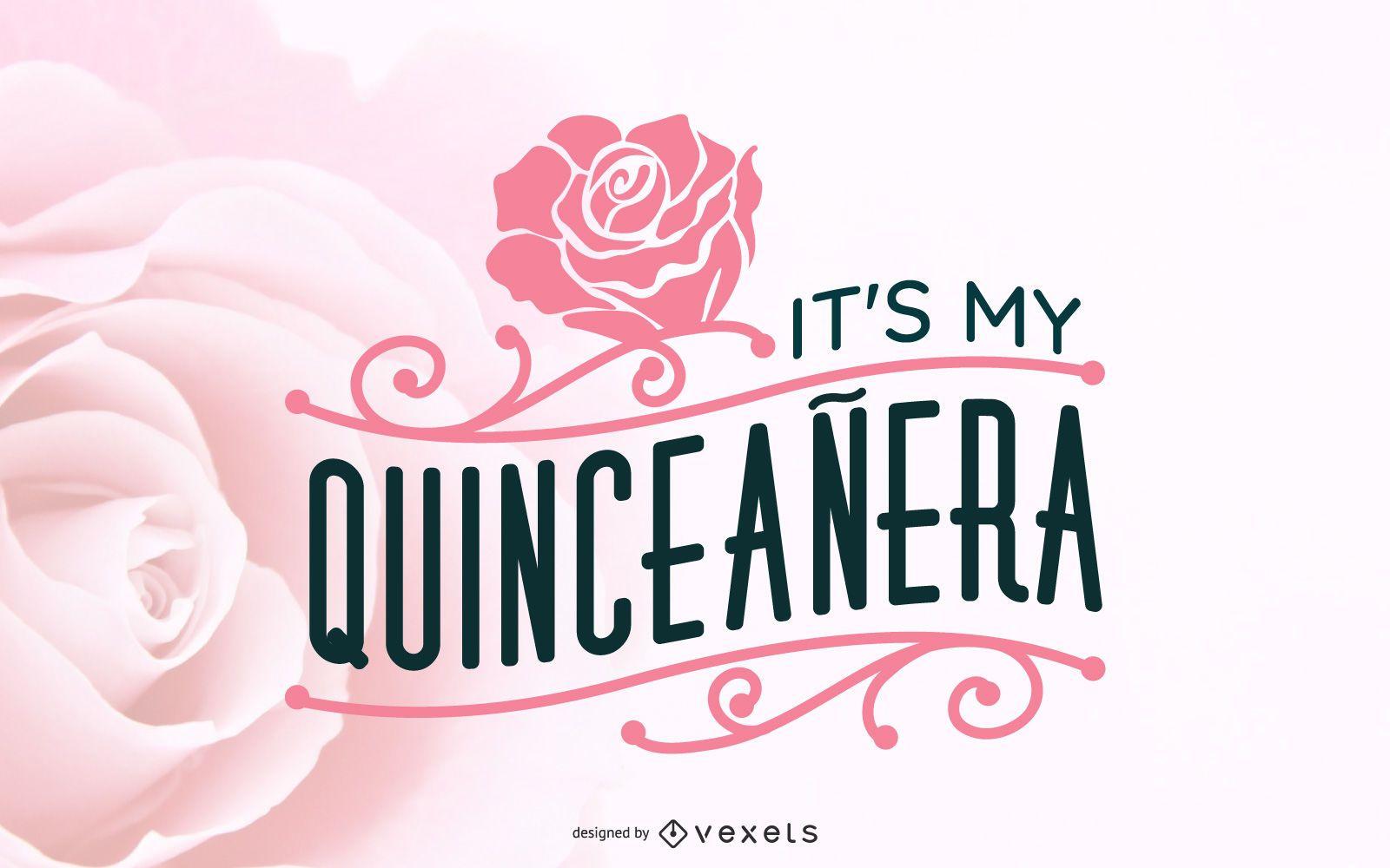 Floral Quinceañera Illustration